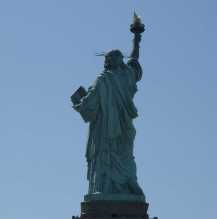 back of statue of liberty