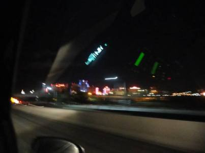 Las Vegas, Nevada in a blur drive by