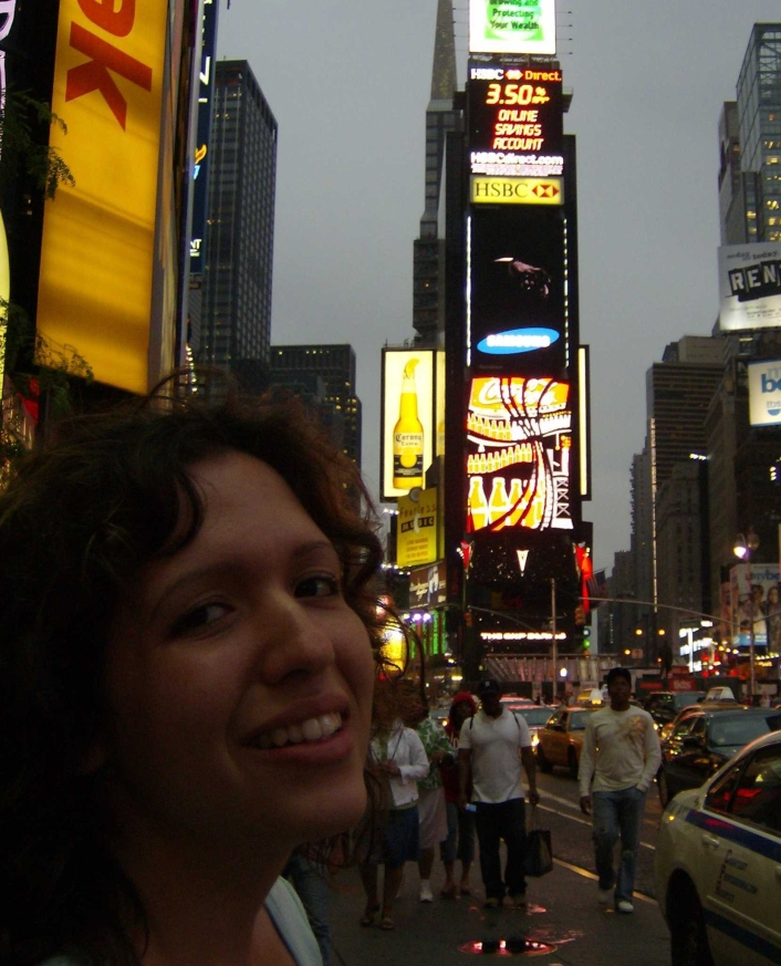 Manhattan city lights New York