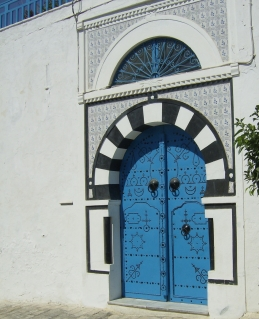 Blue doors in Africa