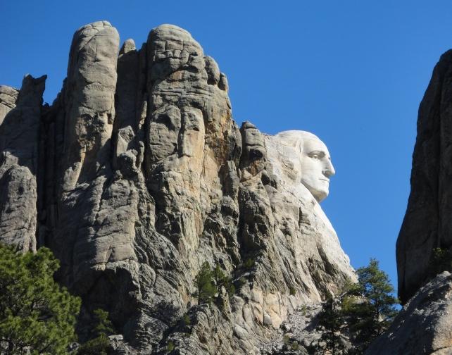 George Washington profile on Mt Rushmore