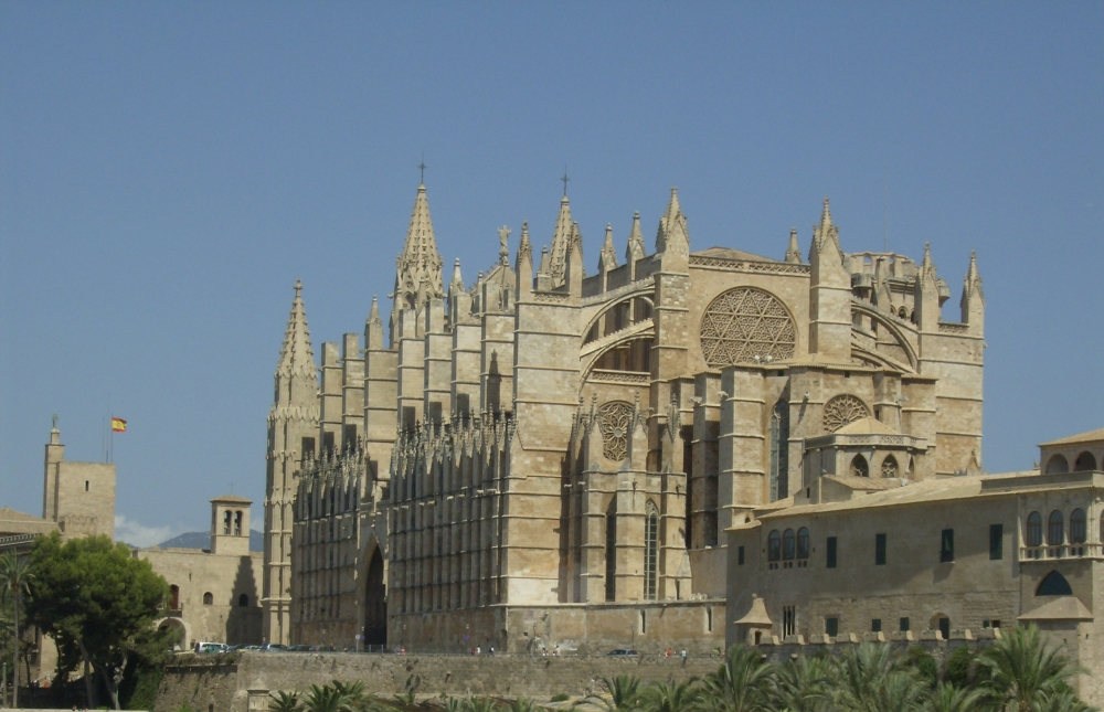 Palma de Mallorca Spain church in passing