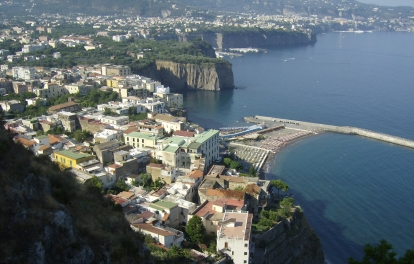 Sorrento coastline in Italy