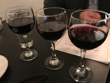 Wine tasting at Cafe Thyme