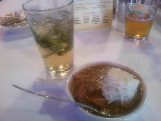Mint julep and gumbo in New Orleans